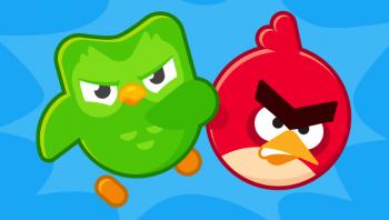 angry birds en duolingo