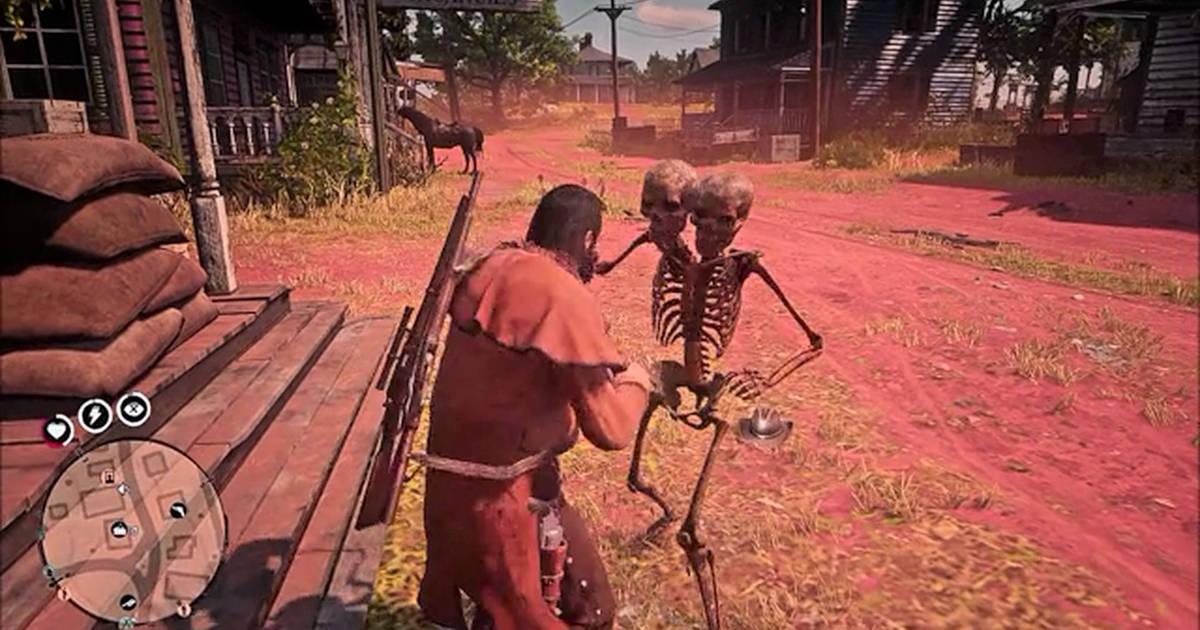 rdr online esqueleto de 2 cabezas